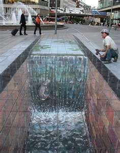 Julian Beever's Pavement Art...what an imagination!