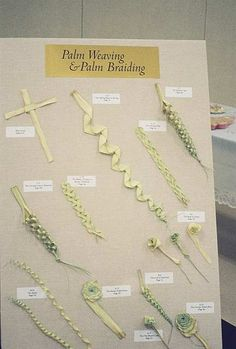 Palm Sunday palm cross folding weaving braiding I always wondered how people did this. Kind of makes me wish I still went to a give-out-palms church Palm Cross, Diy And Crafts, Crafts For Kids, Catholic Crafts, Palm Sunday, Braids With Weave, Holy Week, Arte Floral, Leaf Art
