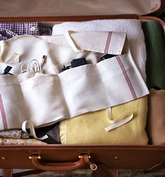great way to store gadgets when traveling
