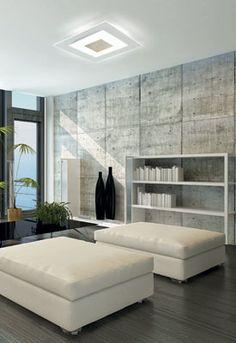 Plafonnier Magic LED Luminaire Vintage, Deco Luminaire, Luminaire Design, Industrial Interior Design, Industrial Interiors, Concrete Light, Concrete Floors, Textured Wall Panels, Wood Panel Walls