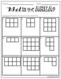 Area Worksheet Counting Squares llol;x Area