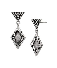 Silvertone Rain Drop Earrings #zulily #zulilyfinds