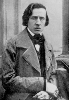 One of the only two known photographs of the famous Polish composer Frédéric Chopin, 1849.