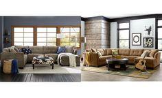 Superieur Elliot Fabric Microfiber 3 Piece Chaise Sectional Sofa, Created For Macyu0027s