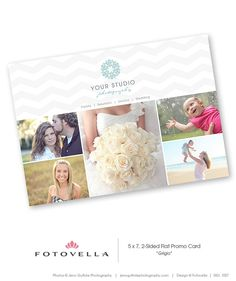 Post Card Template - Promo Card - Photography Marketing - 1057 via Etsy