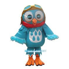 Blue Bird Mascot Costume with Glasses Costumes With Glasses, Adult Costumes, Halloween Costumes, Cartoon Mascot Costumes, Cartoon Painting, Mascot Design, Blue Bird, New Product, Minions