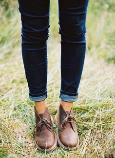 Brown Leather  #Boots With  #Skinny Jeans