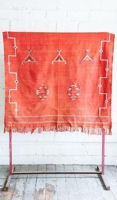 Cactus Silk and Cotton Kilim Rug: #3 Large. Carpet CrawlersPink ...