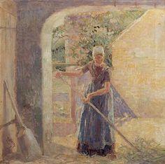 Jan Toorop, A peasant girl on Walcheren - 1904 #Zeeland #Walcheren