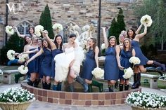 Love the rainboots and pure fun emotion captured in this photo on a clearly happy day!