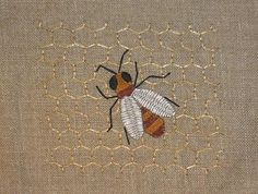 Cretan stitch #embroidery- never could quite get this stitch down in my repertoi!