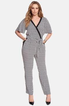 ELOQUII Flutter Sleeve Jumpsuit (Plus Size)