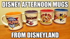 Take a look at the awesome Disney Afternoon mugs from Disneyland! Rescue Rangers, Disney Cups, Disney California Adventure, Disney Home, Disneyland Resort, Cool Kitchens, Mugs, Main Street, Cartoons