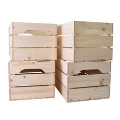 Lot de 4 caisses en bois grand format marron Simply A Box Outdoor Chairs, Outdoor Furniture, Outdoor Decor, Grand Format, Organiser, Dimensions, Magazines, Construction, Home Decor