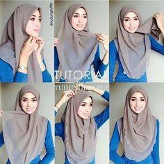 My Sweet Escape: Beautiful Chest Covering Hijab Tutorial Mode Turban, Turban Hijab, Hijab Dress, Hijab Outfit, Square Hijab Tutorial, Simple Hijab Tutorial, Hijab Style Tutorial, How To Wear Hijab, Hijab Stile