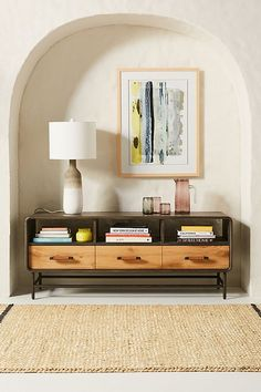 Bobbin Media Console by Tracey Boyd in Grey Size: All, Storage at Anthropologie Unique Living Room Furniture, Hanging Furniture, Dining Room Furniture, Home Furniture, Furniture Design, Style At Home, Plywood Furniture, Furniture Refinishing, Furniture Makeover