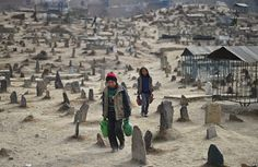 Cimetière Kart-e-Sakhi, à Kabul, Afghanistan. Kart-e-Sakhi cemetery in Kabul, Afghanistan