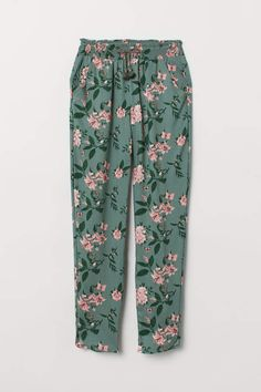 Loose-fit, pull-on pants in soft, woven viscose fabric. Smocking and decorative bow at waist, side pockets, and tapered legs with rounded hems. Classy Outfits, Kids Outfits, Fashion Pants, Fashion Outfits, Cotton Suit, Kids Pants, Viscose Fabric, Pull On Pants, Pants Pattern