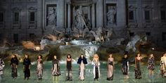 Inside Fendi's Breathtaking Couture Show at Rome's Trevi Fountain