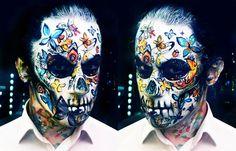 Butterfly Skull facepaint/makeup by NatashaKudashkina on DeviantArt