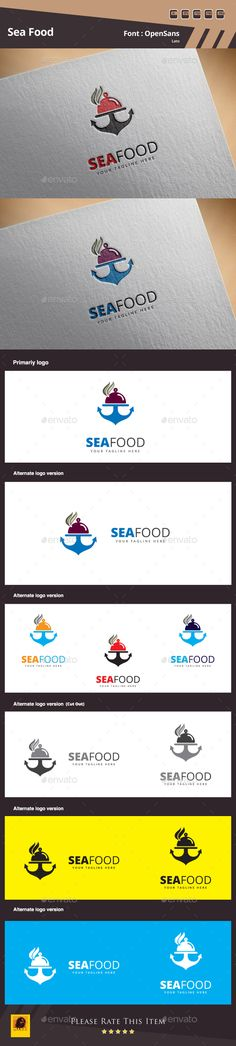 Sea Food Logo Design Template Vector #logotype Download it here: http://graphicriver.net/item/sea-food-logo/13563181?s_rank=165?ref=nexion
