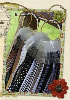 A great way to store ribbon remnants - could be a super simple DIY - Ribbon Storage Ribbon Organizer | Ribbon Ring