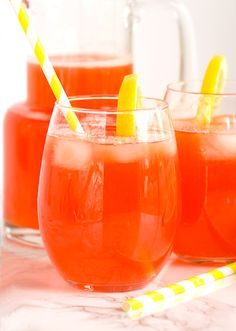 Need a refreshing homemade drink to beat the heat? Try this strawberry lemonade. It's simple to make and is better than any store bought lemonade!