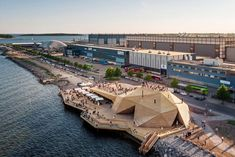 Avanto Architects completes Loyly Sauna for the coastal park in Helsinki, Finland. This Waterfront public sauna will be a part of Helsinki park in Finland. Architecture Design, Cultural Architecture, Landscape Architecture, Landscape Design, Architecture Interiors, Sustainable Architecture, Helsinki, Private Sauna, Outdoor Sauna