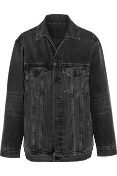 ALEXANDER WANG Daze Oversized Denim Jacket. #alexanderwang #cloth #jackets