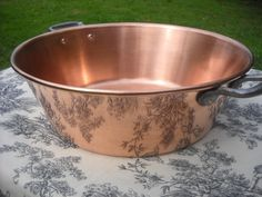 Everyday French Vintage Copper Jam Jelly Confiture Marmalade Apple Butter Pan Cast Iron Handles - Well Used/Used Well - Normandy Kitchen by NormandyKitchen on Etsy