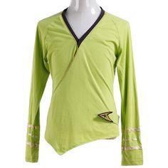 Halloween Costume Star Trek TOS Kirk Green Wrap Command Uniform #Handmade…