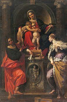 Madonna col Bambino in trono e i santi Giovannino, Giovanni Evangelista e Caterina d'Alessandria è un dipinto di Annibale Carracci. L'opera è nota anche come Madonna di San Giorgio, in quanto inizialmente collocata nella chiesa bolognese di San Giorgio in Poggiale. È datata e firmata con l'iscrizione: ANNI CARR FE MDXCIII.