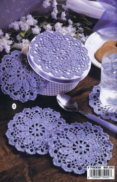 9 Easy Crochet Patterns HOW TO CROCHET THREAD EDGES DOILIES BOOKMARK LEISURE ART