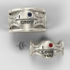 Star wars promise rings... LOVE