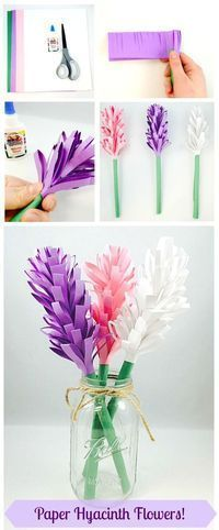 Flower craft ideas wonderful spring summer mothers day ideas easy paper hyacinth flowers mightylinksfo