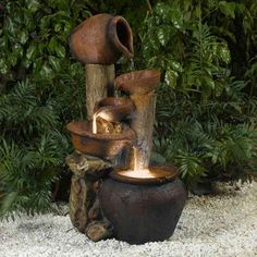 Jeco Pentole Pot Indoor/Outdoor Fountain with Illumination - FCL031