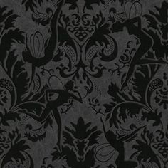"""""""Forest Muses Black"""" Wallpaper. Look closely, for there is magic here."""