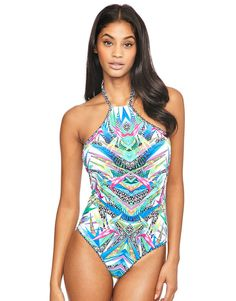 ee6d66ba54fb0 Buy Freya Swim Tropicool Placement Swimsuit at Figleaves One Piece For Women,  Ibiza Holidays,