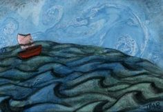 'Little Wooden Boat' by Theresa Brown. Based on the epic Celtic poem about the voyage of Maelduin.