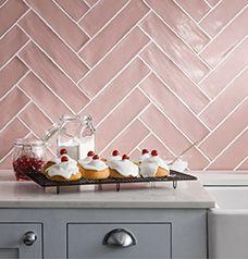 UK | Tile Suppliers & Distributors | CTD Wall & Floor Tiles $$ Pink Kitchen, Diy Bathroom Decor, Tile Backsplash, Bathtub Remodel, Backsplash, Green Flooring, Stone Tile Bathroom, Tile Stores, Pink Tiles