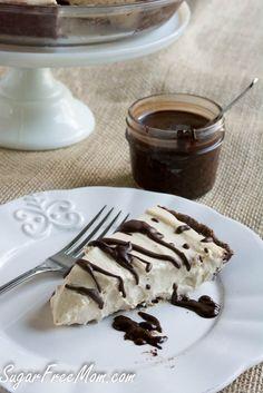 No Bake Sugar-Free Peanut Butter Cheesecake Mousse Pie #diabeticfriendly #glutenfree #lowcarb