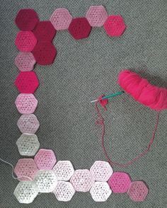 Small amount of progress made on my pink hexagon blanket hopefully I can get some more done in the next few days  #crochetblanket #crochet #crocheted #instagram #handmade #crocheting #crochetaddict #pink by crochet_by_sarah