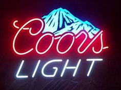 Neon Signs For Coors Light Mountain Beer Decorate Windows Custom LOGO Light Sign Letrero Neon Bulbs Beer Pub Sign Lamps Neon Beer Signs, Pub Signs, Neon Light Signs, Photo Wall Collage, Picture Wall, Western Photo, Western Wall, Lighting Logo, Man Cave Bar