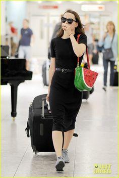 Star Wars' Daisy Ridley Carries Cute Watermelon Purse At Heathrow Airport