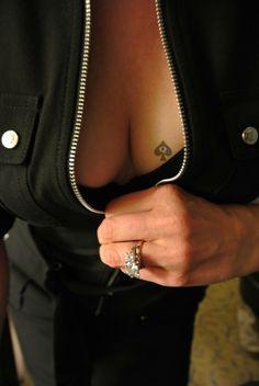 Queen of black captions cock spades tattoo