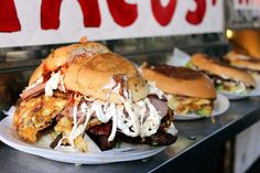 the Torta Pumas from the Tortas Neza sandwich-and-antojitos truck in Corona,