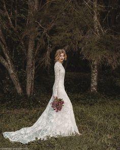 2017 New Elegant Lace Bohemian Long Sleeve Wedding Dress A-Line Custom:6 -16 | Clothes, Shoes & Accessories, Wedding & Formal Occasion, Wedding Dresses | eBay!