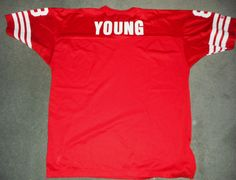 Men's Vintage Red & White SAN FRANCISCO 49ers #8 YOUNG NFL Jersey, Size XL, GUC! #Champion #SanFrancisco49ers