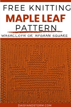 Free Garden Themed Dishcloth and Afghan Squares Knitting Patterns Knitted Dishcloth Patterns Free, Knitted Washcloths, Knitting Machine Patterns, Crochet Dishcloths, Knitted Blankets, Knitting Stitches, Baby Knitting, Crocheting Patterns, Knitted Baby