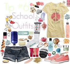"""""""school outfits"""" by cherryblossom ❤ liked on Polyvore"""